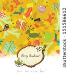 christmas greeting card design | Shutterstock .eps vector #151586612