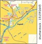 flagstaff  arizona area map   Shutterstock .eps vector #151592645