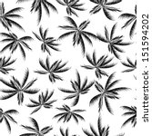 palm trees pattern | Shutterstock . vector #151594202
