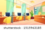 customer service office flat... | Shutterstock .eps vector #1515963185