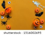 halloween holiday concept ... | Shutterstock . vector #1516002695
