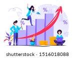 financial forecast vector...   Shutterstock .eps vector #1516018088