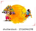 dussehra  lord rama with arrow... | Shutterstock .eps vector #1516046198