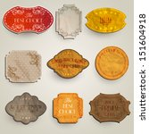 vector set  vintage labels with ... | Shutterstock .eps vector #151604918