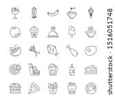outlined fast dood icons... | Shutterstock .eps vector #1516051748