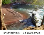Beautiful Red Sand Beach In...