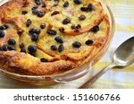 bread and butter pudding with... | Shutterstock . vector #151606766