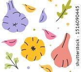 garlic hand drawn vector...   Shutterstock .eps vector #1516090445