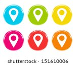 colorful icons for web or... | Shutterstock . vector #151610006