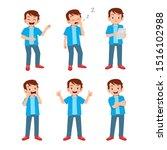 cute teen gesture many... | Shutterstock .eps vector #1516102988
