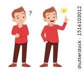 cute teen gesture many... | Shutterstock .eps vector #1516103012