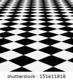 checkered texture 3d background.... | Shutterstock .eps vector #151611818