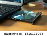 Cd In The Laptop Cd Dvd Drive
