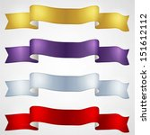 colorful ribbons set  | Shutterstock .eps vector #151612112