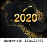 happy new 2020 year. vector... | Shutterstock .eps vector #1516131992