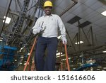 low angle view of a smiling man ...   Shutterstock . vector #151616606