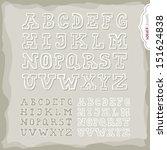 white border latin alphabet big ... | Shutterstock .eps vector #151624838