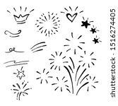 hand drawn of doodle design... | Shutterstock .eps vector #1516274405