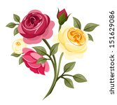 Stock vector colorful roses vector illustration 151629086