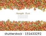 dog food background on white | Shutterstock . vector #151633292