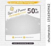 template feed for social media... | Shutterstock .eps vector #1516343462