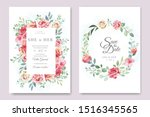 wedding and invitation card... | Shutterstock .eps vector #1516345565