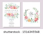 wedding and invitation card... | Shutterstock .eps vector #1516345568