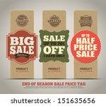 sale tags design | Shutterstock .eps vector #151635656