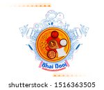 bhai dooj  bhau beej  bhai tika ...   Shutterstock .eps vector #1516363505