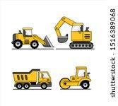 contructions trucks vector...   Shutterstock .eps vector #1516389068