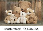 A Group Of Cute Teddy Bears...