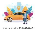 car sharing service advertising ...   Shutterstock .eps vector #1516424468