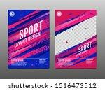 sport layout   template design  ... | Shutterstock .eps vector #1516473512