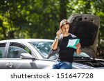 handsome young man calling for... | Shutterstock . vector #151647728