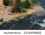 Aerial View Of River With...