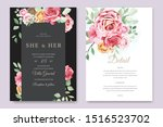 wedding invitation card with... | Shutterstock .eps vector #1516523702