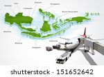 air transport in asean  concept | Shutterstock . vector #151652642