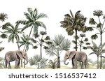 beautiful tropical vintage... | Shutterstock .eps vector #1516537412