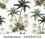 beautiful tropical vintage palm ... | Shutterstock .eps vector #1516542722