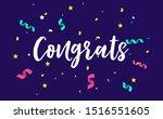 congratulations design template ... | Shutterstock .eps vector #1516551605