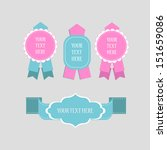 labels and ribbon retro set.... | Shutterstock .eps vector #151659086