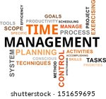 a word cloud of time management ...   Shutterstock .eps vector #151659695