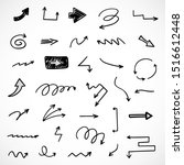 vector set of hand drawn arrows | Shutterstock .eps vector #1516612448
