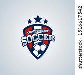 soccer football badge logo...   Shutterstock . vector #1516617542