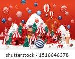 winter wonderland christmas... | Shutterstock .eps vector #1516646378