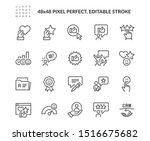 simple set of customer... | Shutterstock .eps vector #1516675682