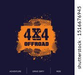 off road emblem logo design. | Shutterstock .eps vector #1516676945