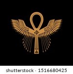 Ankh Key Of Life With Pharaoni...