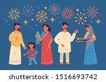 diwali hindu festival greeting... | Shutterstock .eps vector #1516693742