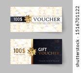 vector set of luxury gift... | Shutterstock .eps vector #1516701122